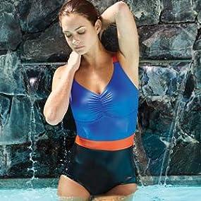 97030fd35638 Speedo Sculpture Crystalshine Maillot de bain Femme Noir Bleu Canard ...