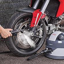 nettoyeur vapeur moto voiture velo extérieur