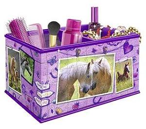 Boîte de rangement chevaux puzzle Girly Girl