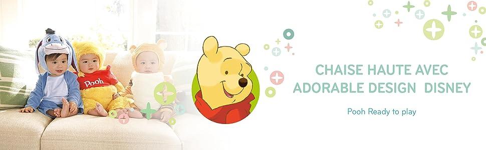 Disney,CHAISE HAUTE POUR NOUVEAU-NÉS,CHAISE HAUTE,hauck, Winnie the Pooh,Sit´N Relax,jeu et repas es
