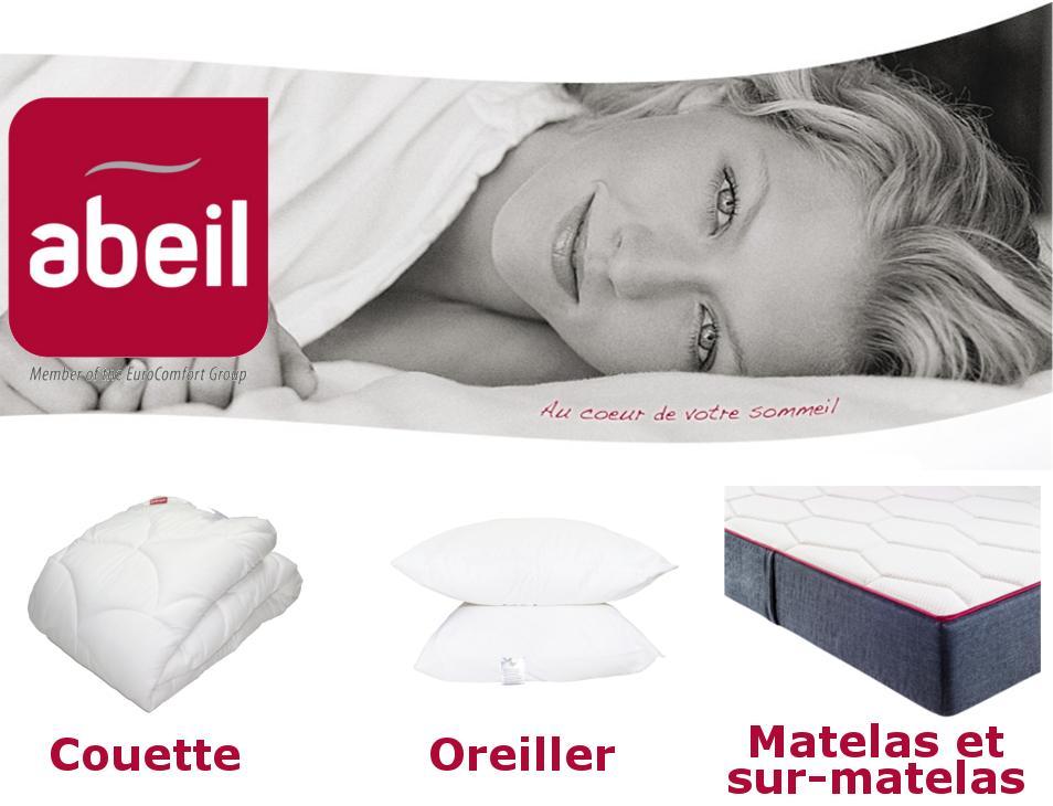 Abeil oreiller s r nit anti acarien antitache coton blanc 60 x 60 cm cuisine - Fabricant de matelas francais ...