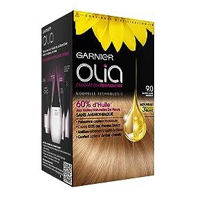 Olia 9.0 Blond Clair Radieux coloration permanente sans ammoniaque huile