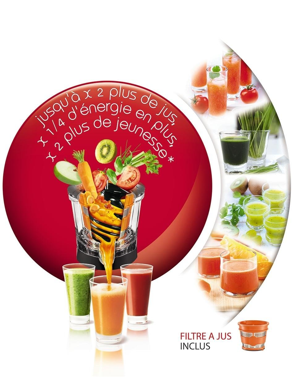 Moulinex zu255b10 extracteur de jus infiny juice pressoir - Extracteur de jus moulinex infiny juice ...