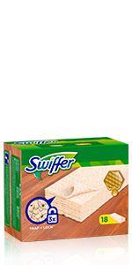 Swiffer - Lingettes Sèches Attrape-poussière Bois
