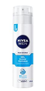 gel à raser peau sensible fraîcheur nivea men
