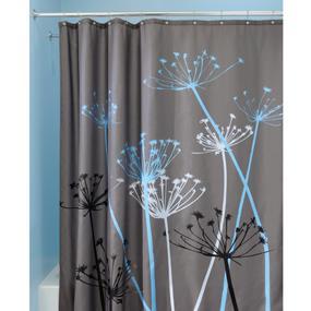 Interdesign thistle rideau douche grand rideau baignoire 183 0 cm x 183 0 cm en polyester - Rideau de douche lavable en machine ...