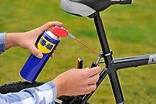 vélo, selle, entretien vélo, dégrippe, cadre velo, pédaliers, guidon, chaine, pignon