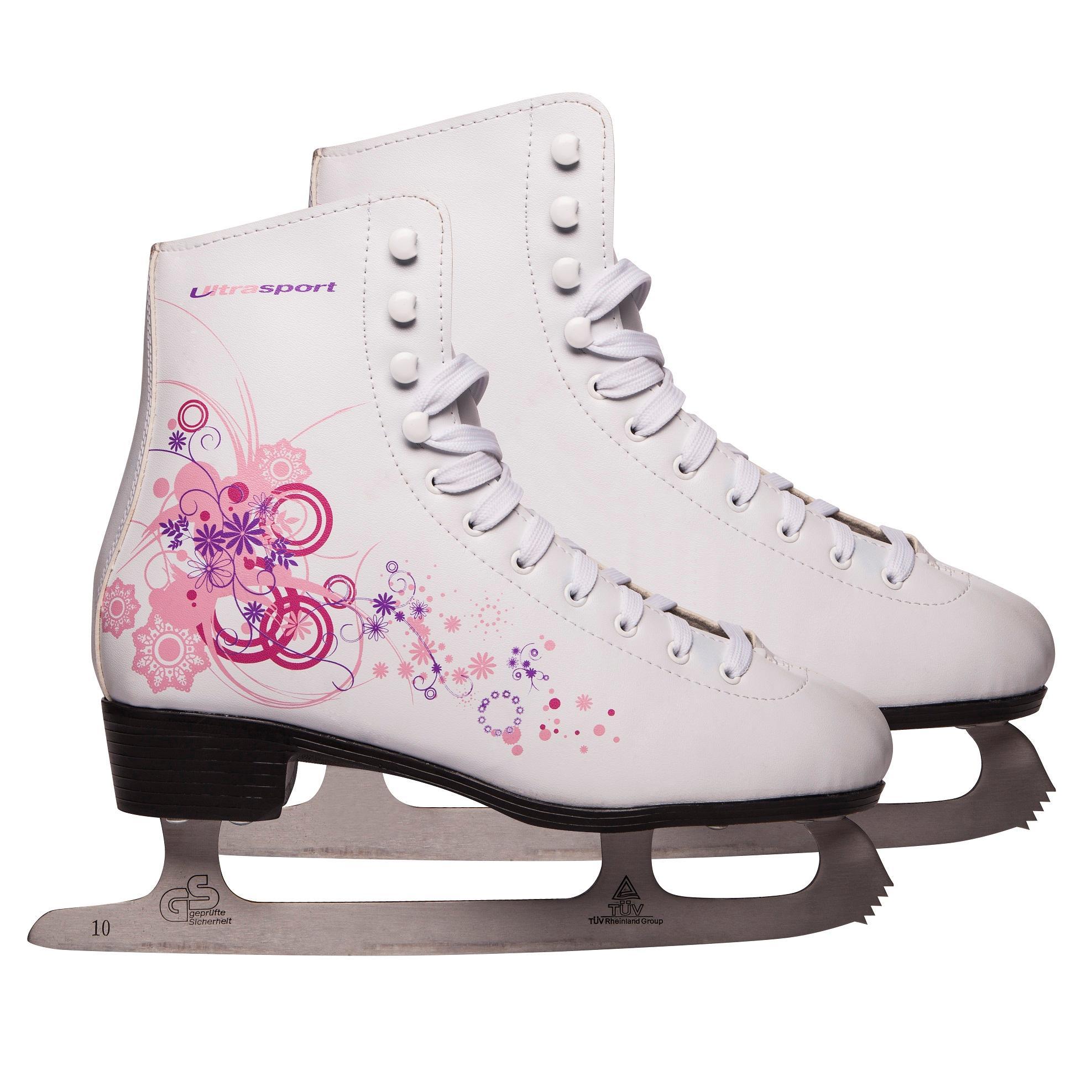 ultrasport patins glace femme et enfant blanc rose 38 331300000211 sports et. Black Bedroom Furniture Sets. Home Design Ideas
