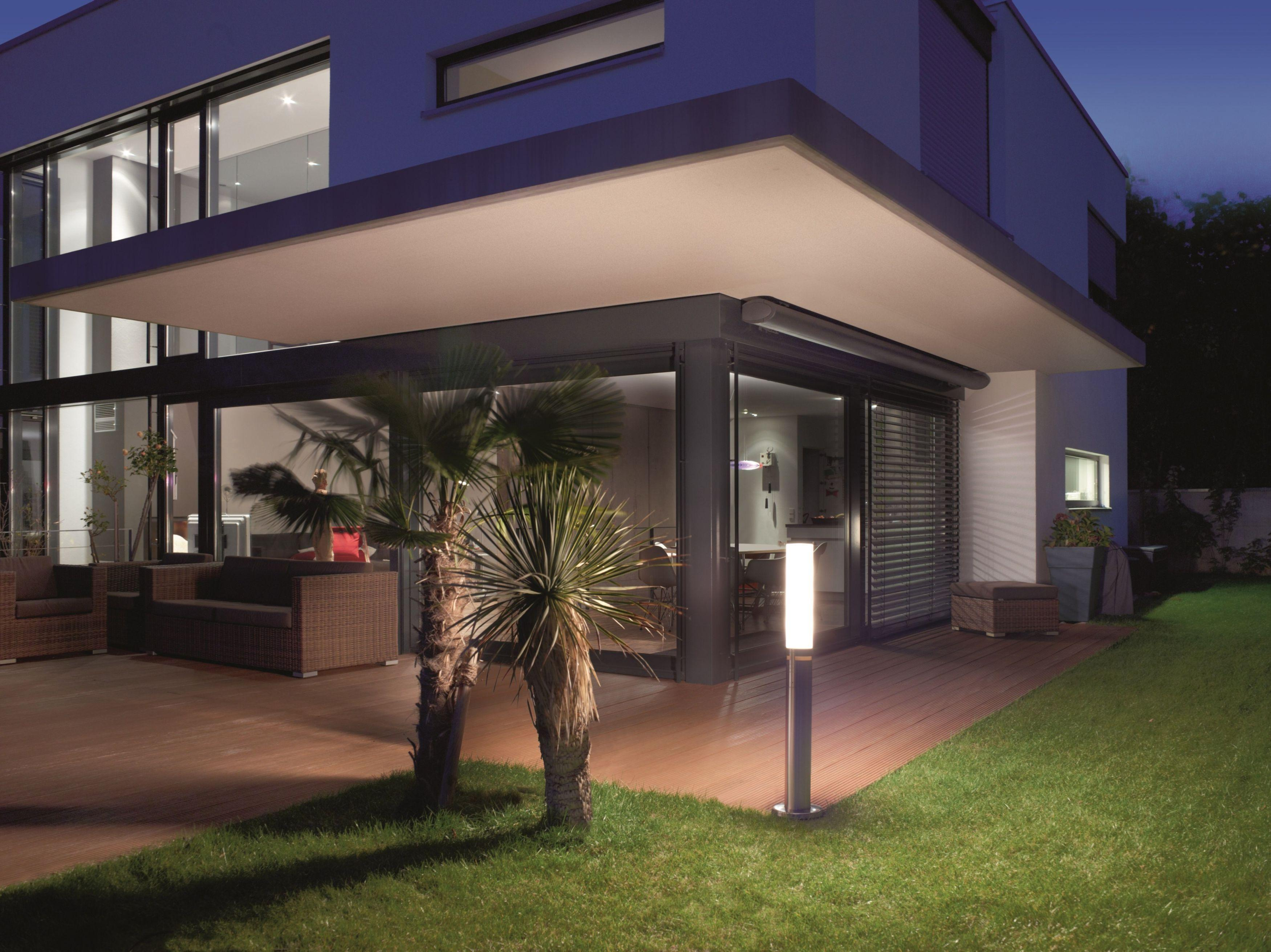 Steinel gl 60 led eclairage pour chemins avec d tecteur - Borne d eclairage exterieure avec detecteur ...
