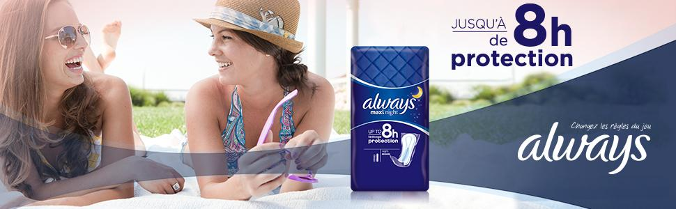 Always Maxi Night Serviettes Hygiéniques x12 Lot de 2