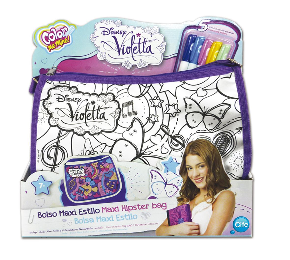 Smoby 86103 loisirs cr atifs sac tendance xl violetta color me mine mod le al atoire - Sac a colorier violetta ...