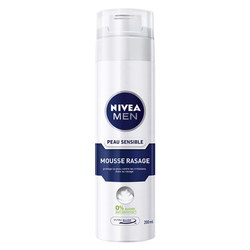 nivea men mousse raser peau sensible 200 ml lot de2. Black Bedroom Furniture Sets. Home Design Ideas