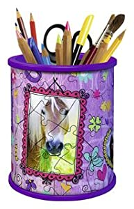 Pot à crayons puzzle Girly Girl chevaux