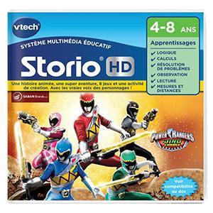 Power rangers, jeu, storio, storio max, vtech, HD, mission, apprendre, calculs, logique, cartouche