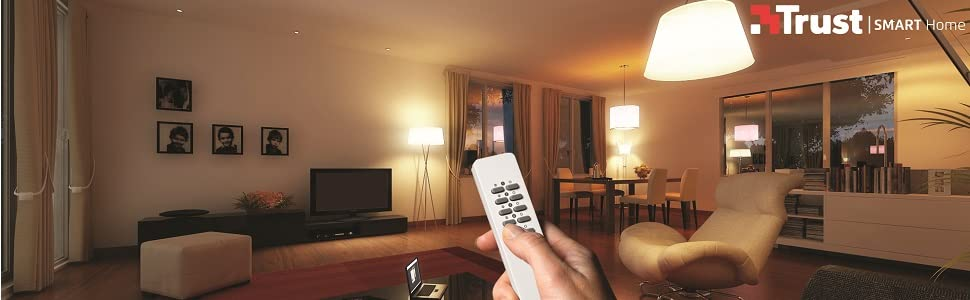 Trust Smart Home AWS-3500 Interrupteur sans fil encastré Blanc