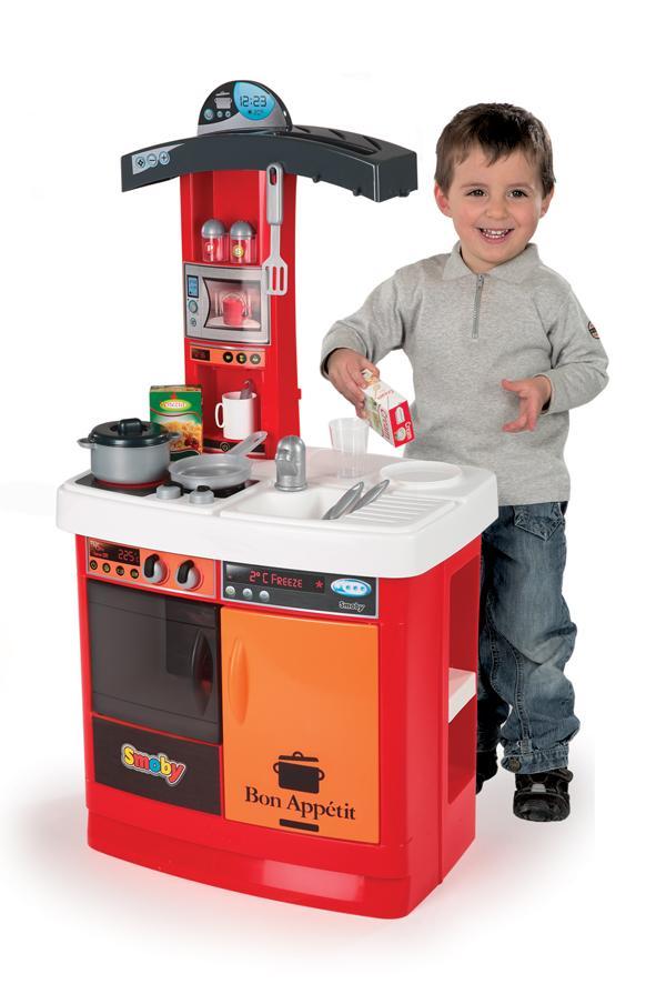 smoby 024134 jeu d 39 imitation cuisine bon app tit electronique rouge jeux. Black Bedroom Furniture Sets. Home Design Ideas