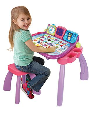 vtech 154655 apprendre lire et crire magi bureau interactif 3 en 1 rose. Black Bedroom Furniture Sets. Home Design Ideas