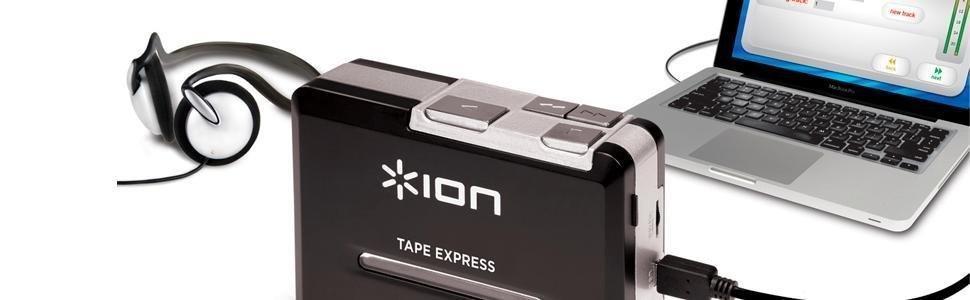 ion audio tape express baladeur cassette et convertisseur au format mp3 avec logiciel mac et pc. Black Bedroom Furniture Sets. Home Design Ideas