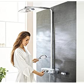 grohe colonne de douche avec mitigeur thermostatique rainshower system smartcontrol 360 duo. Black Bedroom Furniture Sets. Home Design Ideas
