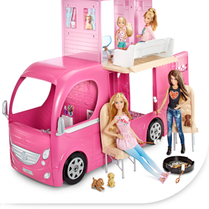 barbie cjt42 mobilier de poup e camping car duplex jeux et jouets. Black Bedroom Furniture Sets. Home Design Ideas