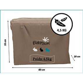 babysun lit parapluie ultra light plume b b s pu riculture. Black Bedroom Furniture Sets. Home Design Ideas