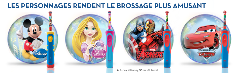 oral b brosse dents lectrique pour enfant avec mickey de disney hygi ne et soins. Black Bedroom Furniture Sets. Home Design Ideas
