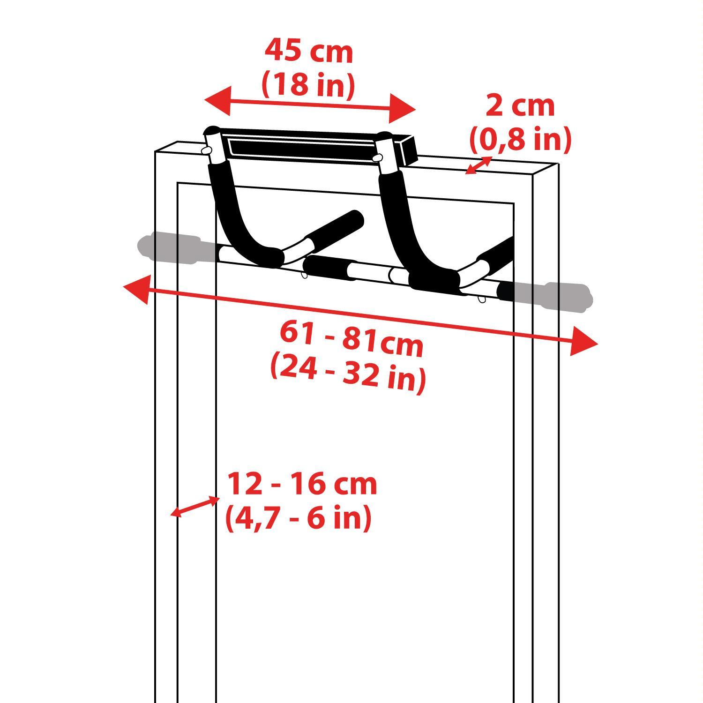 ultrasport barre de porte multifonctions barre de. Black Bedroom Furniture Sets. Home Design Ideas