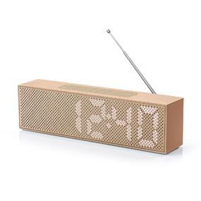 lexon la83hw radio r veil blanc bois cuisine maison. Black Bedroom Furniture Sets. Home Design Ideas