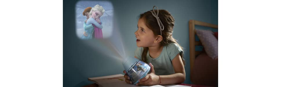 philips veilleuse projecteur reine des neiges disney lampe enfant luminaires et. Black Bedroom Furniture Sets. Home Design Ideas