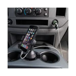 Belkin Support de voiture pour Porte-Gobelet Compatible iPhone 11, iPhone 11 Pro, iPhone 11 Pro