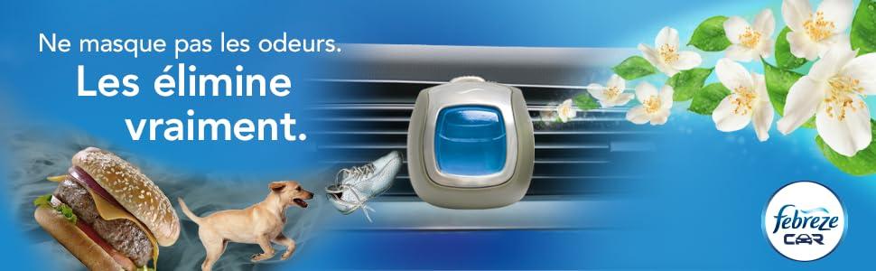 febreze diffuseur car anti tabac pour voiture hygi ne et soins du corps. Black Bedroom Furniture Sets. Home Design Ideas