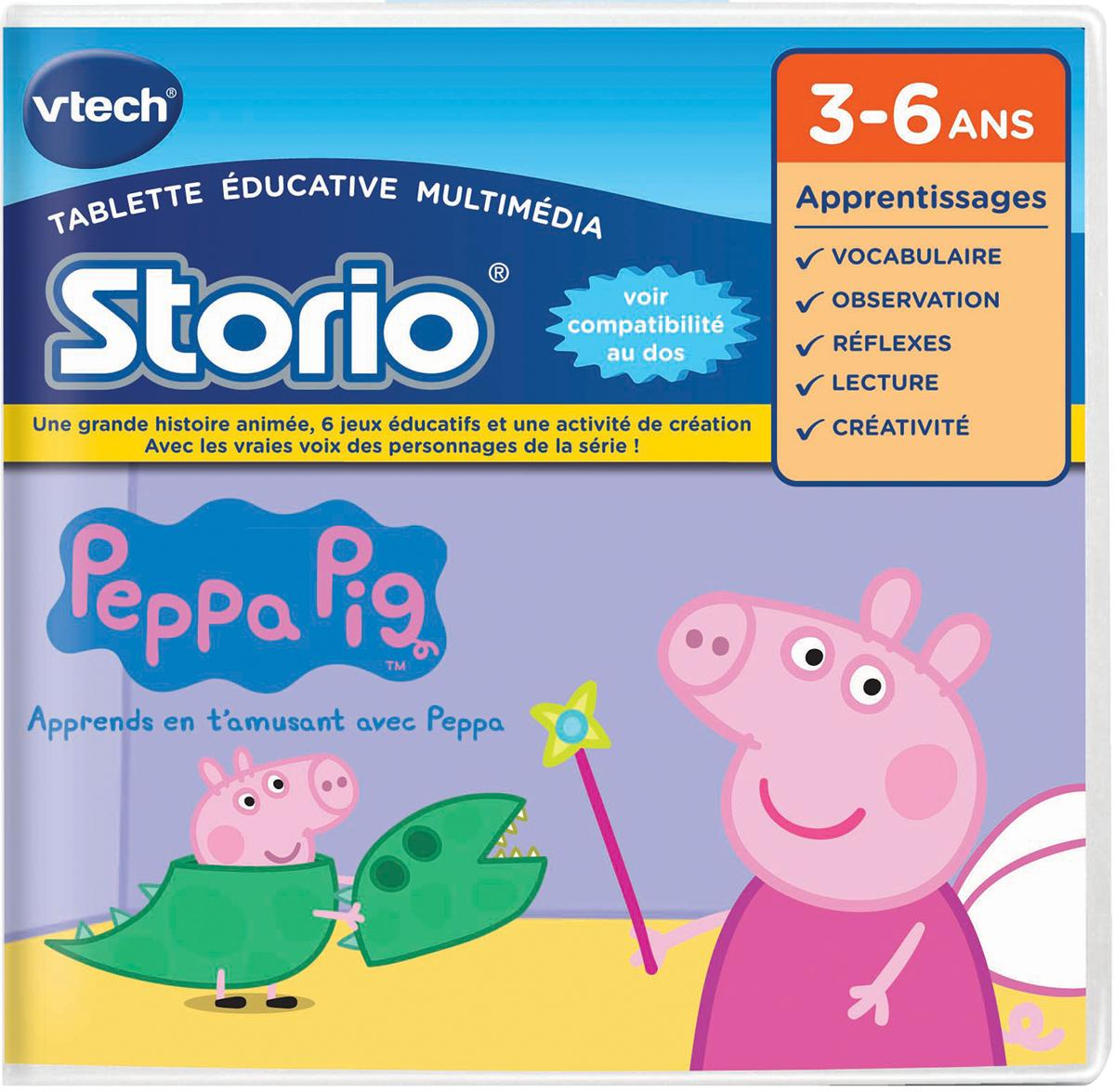 vtech 233405 jeu pour tablette hd storio peppa pig jeux et jouets. Black Bedroom Furniture Sets. Home Design Ideas
