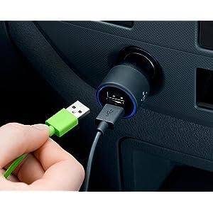 Belkin - Chargeur Allume-Cigare Double Entrée (2 x 2.1A) avec Câble Lightning pour iPhone et