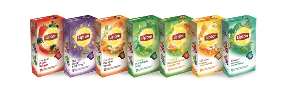 lipton coffret th s et infusions 24 capsules compatibles nespresso epicerie. Black Bedroom Furniture Sets. Home Design Ideas