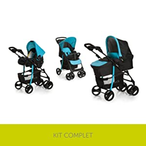 Shopper Trio Set, hauck, KIT POUSSETTE Complet, bébé, Stroller, Summer
