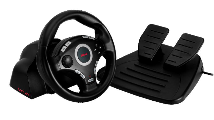 trust gxt 27 volant gaming pour pc et ps2 ps3 informatique. Black Bedroom Furniture Sets. Home Design Ideas
