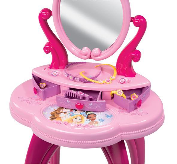 Smoby 024232 Bijou Et Cosmétique Coiffeuse Princesses Disney
