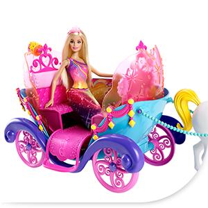 Barbie dpy38 carrosse arc en ciel jeux et - Carrosse barbie ...