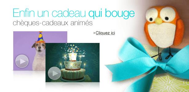 Chèques-cadeaux animés Amazon.fr