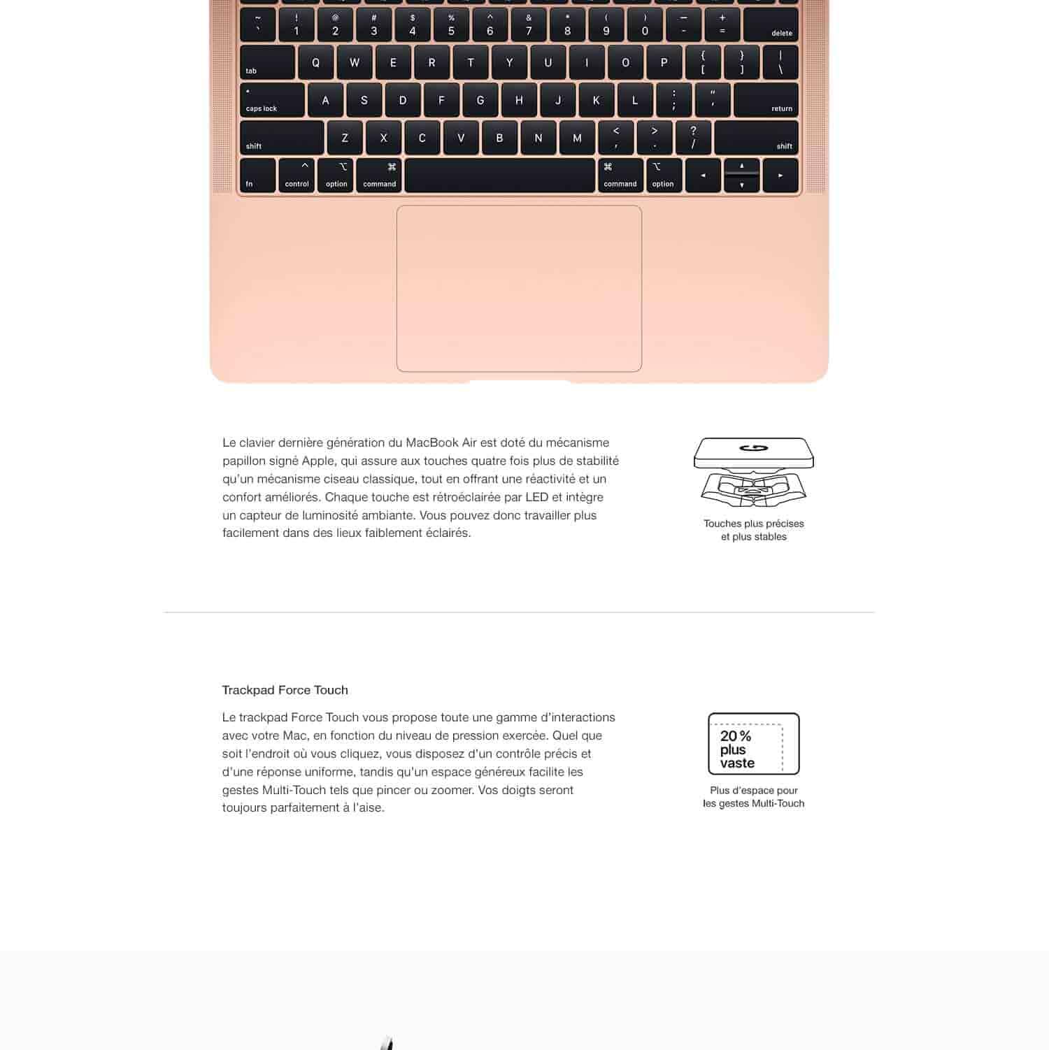Apple MacBook Air (13 pouces, Intel Core i5 bicœur à 1,6 GHz, 8 Go RAM, 128 Go) - Gris sidéral