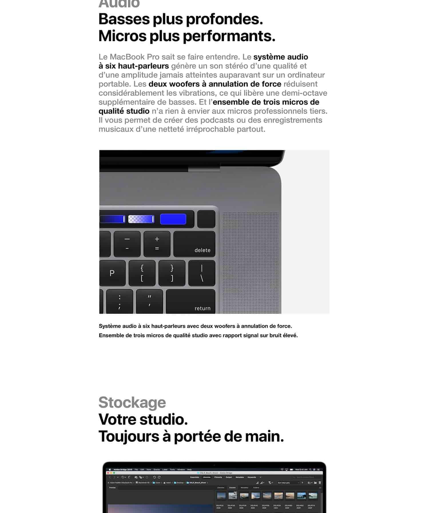 Apple MacBook Pro (16 pouces, 16Go RAM, 512Go de stockage, Intel Core i7 à 2,6GHz) - Argent