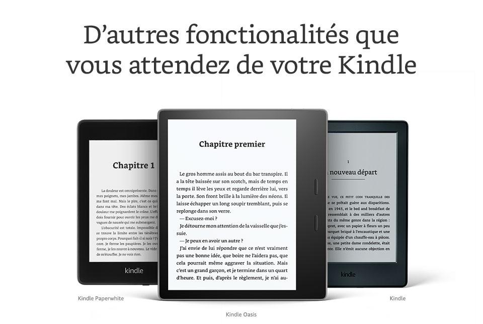 D'autres fonctionnalites que vous attendez de votre Kindle