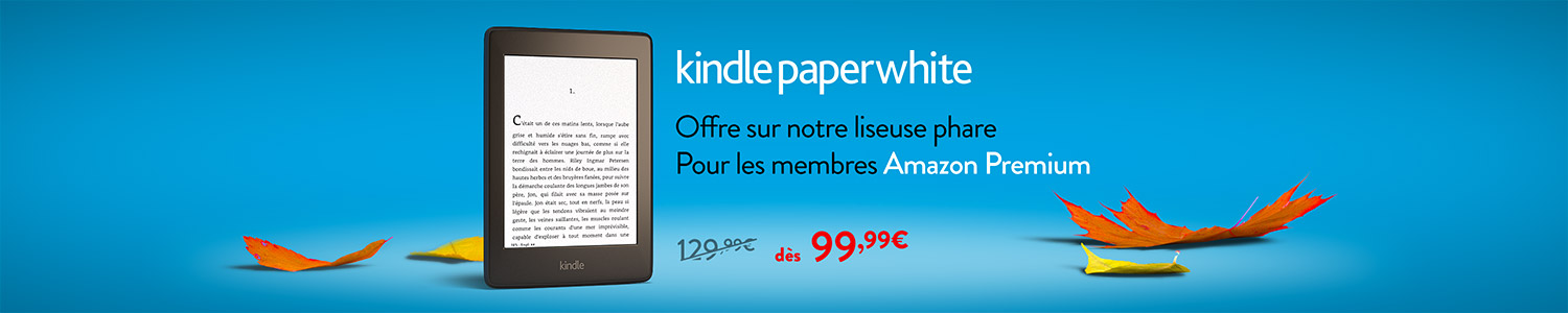 Kindle Paperwhite à -30€ pour les membres Amazon Premium