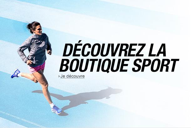 découvrez la boutique Sports
