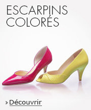 Escarpins colorés