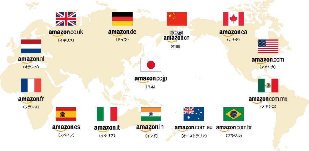 世界に広がるAmazonの販売ネットワーク