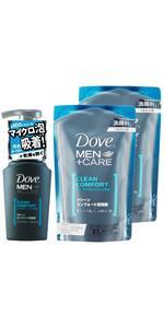 ダヴ クリーンコンフォート 泡洗顔 ポンプ+つめかえ用×2個