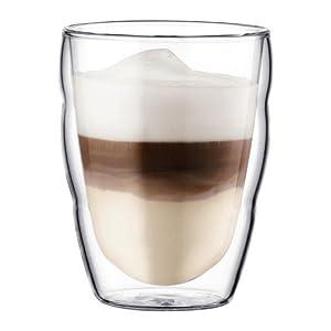 ぼだむ bodum エスプレッソ コーヒー グラス 結露 ホット カフェラテ カフェオレ PILATUS ピラトゥス