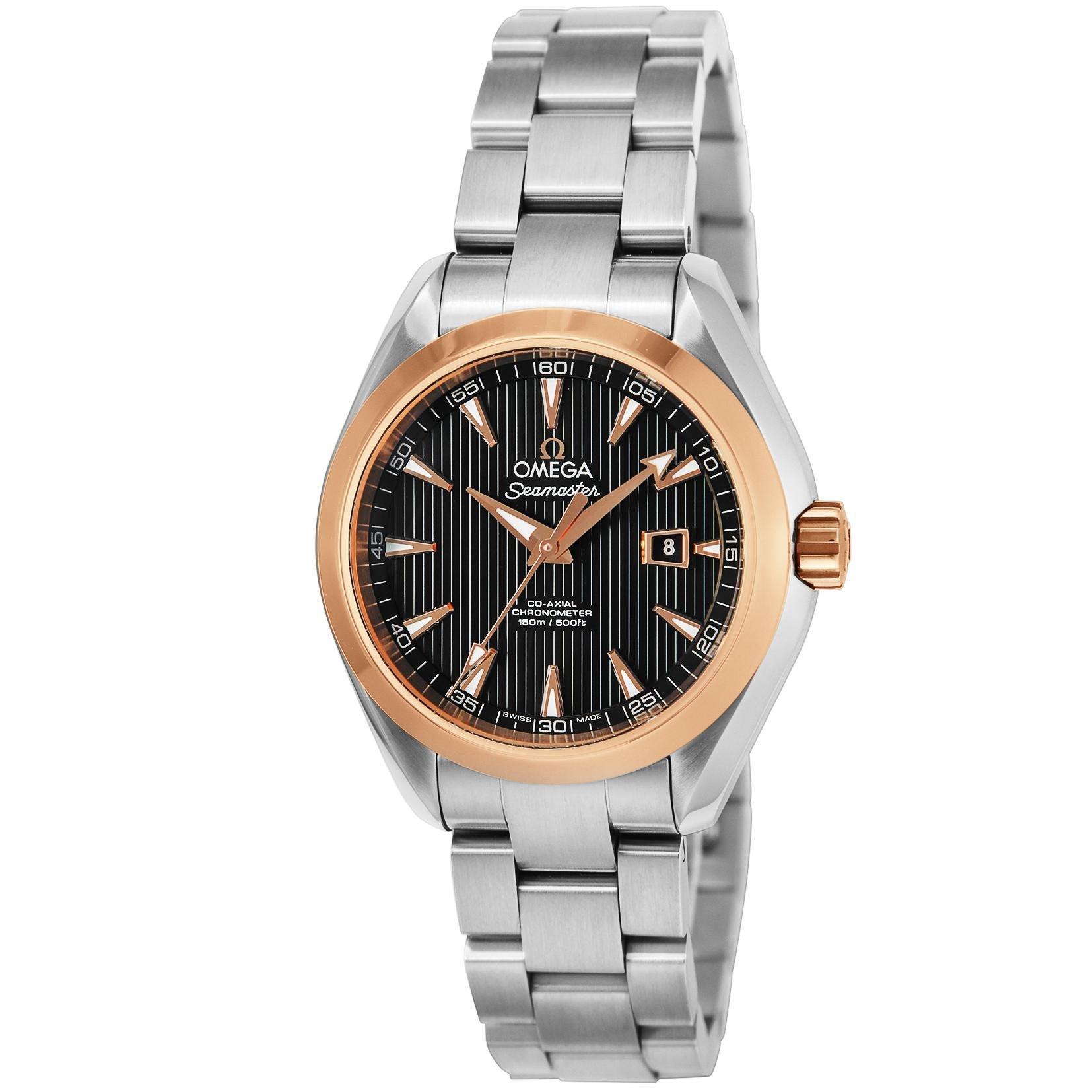 finest selection 461cd 69d0d Amazon   [オメガ] 腕時計 シーマスター ブラック文字盤 ...