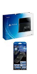 PlayStation 4 ジェット・ブラック 500GB (CUH-1100AB01)【Amazon.co.jp限定特典】アンサーPS4コントローラ用 アタッチメント充電スタンドW